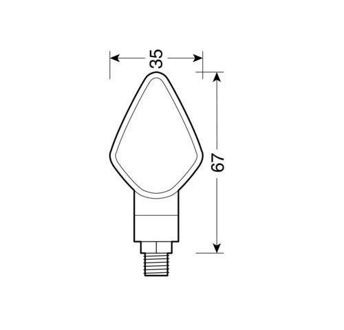 90120 D 01 500x480 - Penta-led pokazivači smjera art.90120