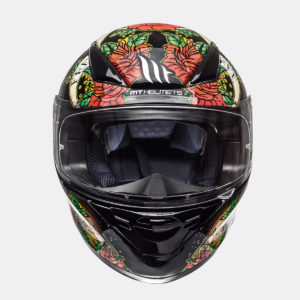 integralna kaciga mt revenge skull roses gloss black red lavado 03 300x300 - MT Revenge Skull & Rose Gloss Black/Red