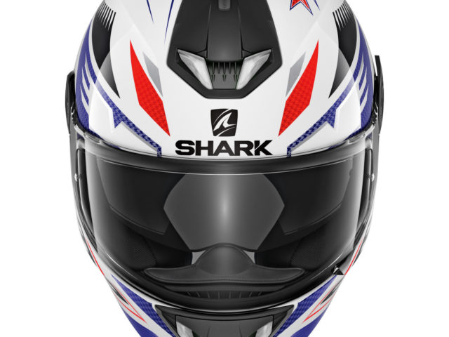 23785 Shark Skwal 2 Draghal Motorcycle Helmet White Blue Red 1600 01