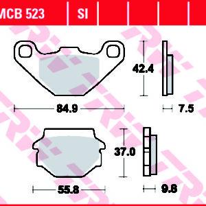 MCB523 KOČIONE PLOČICE ZA MOTOCIKL 300x300 - MCB523SI