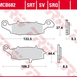 MCB682 kočione pločice za motocikl 300x300 - MCB682
