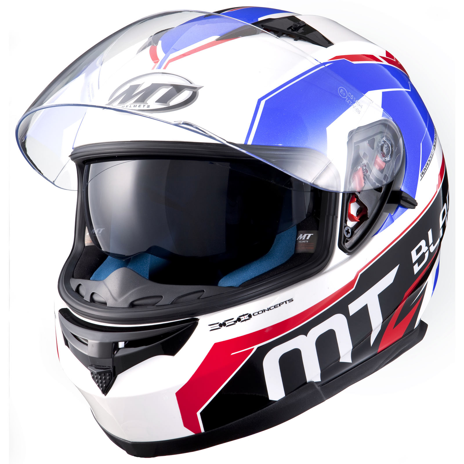 10679 MT Blade SV SuperR Motorcycle Helmet Blue Red White 1600 2