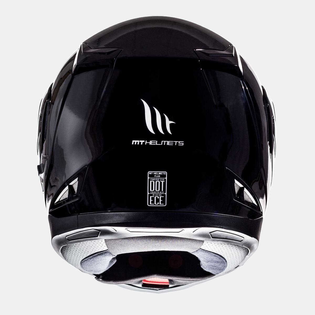 flip up mt kaciga flux solid black lavado hr 04