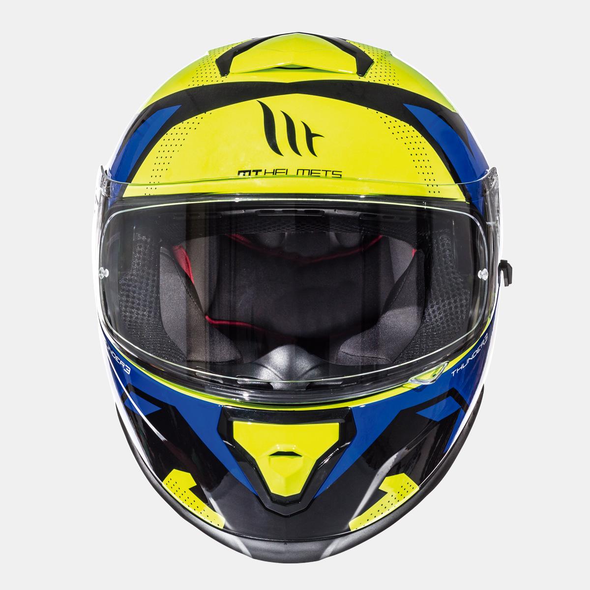 integralna kaciga thunder 3 torn gloss fluor yellow blue lavado hr 03
