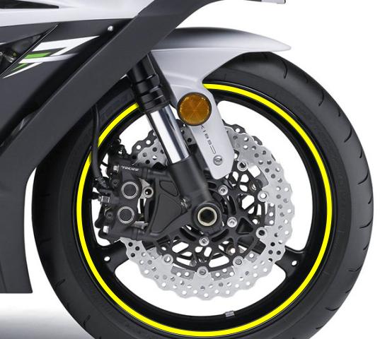 naljepnica za kotač žuta