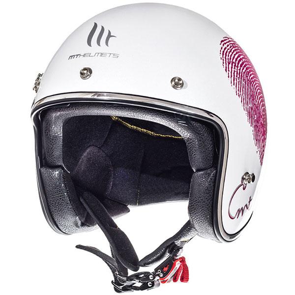 mt helmets le mans open face love white pink 02