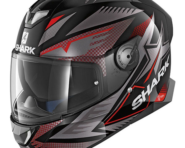 shark helmet skwal 2 draghal black anthracite red