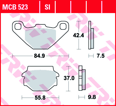 MCB523 KOČIONE PLOČICE ZA MOTOCIKL