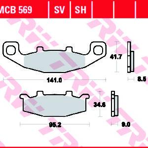 MCB569 kočione pločice za motocikl
