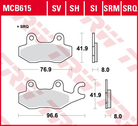 MCB615 kočione pločice za motocikl