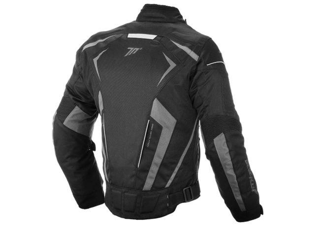 JR blak grey jakna za motocikl