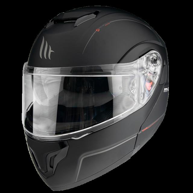 mt helmets atom matt black